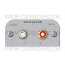Kindermann Audio L/R Blenden L Alu