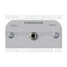Kindermann Audio Klinke Blende Alu